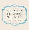 Save the Date with watercolor frame vector image
