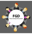 FGD focus group discussion get customer feedback vector image