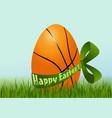 Basketball Easter egg vector image