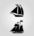 classic sailing symbol icon vector image