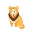 Collie Dog Breed Primitive Cartoon vector image