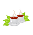 cups of tea vector image