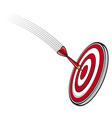 Dart hitting s target vector image