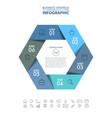 hexagon business infographics strategy design vector image