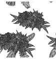 peony bouquets seamless pattern vector image