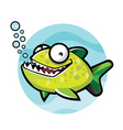 piranha cartoon vector image
