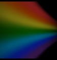 Rainbow icon realistic isolated black background vector image