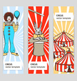 Sketch circus rabbit and clown vector image