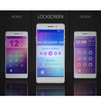 Smartphones Lock Screen Designs vector image