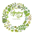 Spring compositionbackgroundGreen Leaves vector image