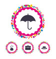 umbrella wallet and hat with case vector image
