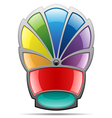 rainbow badge vector image vector image