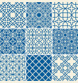 turkish texture semless patterns vector image
