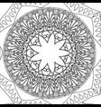vintage mandala meditation decoration scheme vector image