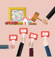auction concept in flat style vector image