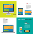 Responsive webdesign on Computer Smartphone and T vector image