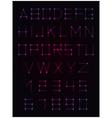 Decorative alphabet vector image vector image
