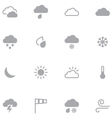Set of minimalistic weather icons for web and vector image