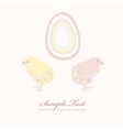 Easter chicken and egg  vector image vector image
