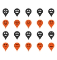 Emotion map marker icons vector image