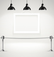 Photorealistic bright gallery with projectors vector image vector image