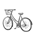 Cartoon of bicycle vector image