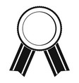 award ribbon icon simple vector image