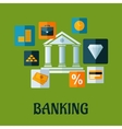 Banking flat infographic design vector image