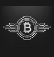 bitcoin abstract silver symbol of internet money vector image