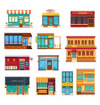 fastfood restaurant flat icons set vector image