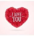 Fur Banner Heart Love You Valentine Concept Card vector image