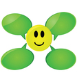 happy face with speech bubble ball vector image
