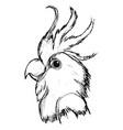 head of parrot vector image