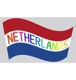 Netherlands flag with word Netherlands vector image
