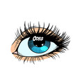 oops the glare in the eye of women vector image
