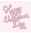 pink lettering heart shape vector image