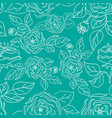 seamless pattern with hand-drawn gentle roses vector image