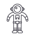spaceman line icon sign on vector image