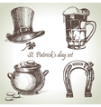 St Patricks Day set vector image
