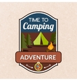 Summer Camping Emblem vector image