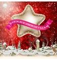 Christmas Background Landscape EPS 10 vector image