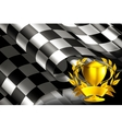 Checkered Background horizontal with cup vector image vector image