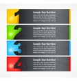 Set of colored number banners vector image