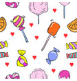 Collection stock of various candy doodles vector image