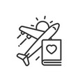 travel - modern single line icon vector image