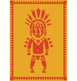 aztec on background vector image