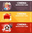 Realistic cinema movie poster vector image