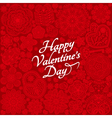 Card design for Valentines day vector image