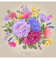 greeting card with a bouquet vector image