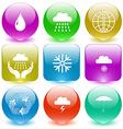 drop rain globe weather in hands snowflake vector image